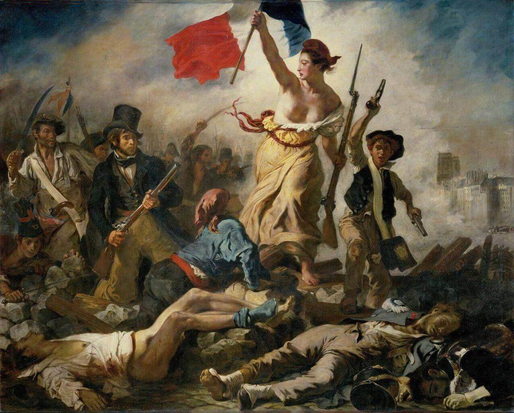 Tableau d'Eugène Delacroix : La liberté guidant le peuple